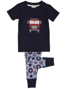 Mini Vanilla Boys Fire Engine Pyjamas