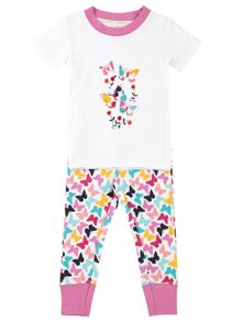 Mini Vanilla Girls Butterfly `Comfy` Fit Pyjamas
