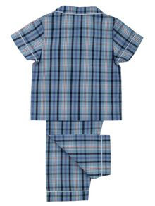 Mini Vanilla Boys Traditional Checked Pyjamas