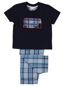 Mini Vanilla Boys London Bus Pyjamas