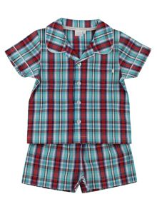 Mini Vanilla Boys Traditional Checked Short Pyjamas