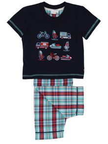 Mini Vanilla Boys Transport Pyjamas