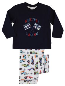 Mini Vanilla Boys Racing Car Lounge Pyjamas
