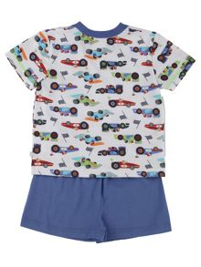 Mini Vanilla Boys Racing Car Shortie Pyjamas