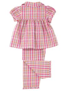 Mini Vanilla Girls Traditional Summer Pyjamas