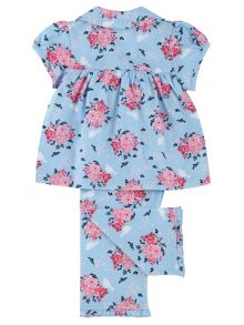 Mini Vanilla Girls Cotton Jersey Printed Pyjamas