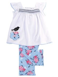 Mini Vanilla Girls cotton Smocked Pyjamas