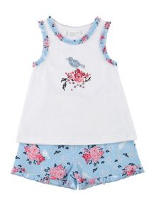 Mini Vanilla Girls Summer Shortie Pyjamas