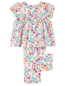 Mini Vanilla Girls all over floral print pyjamas