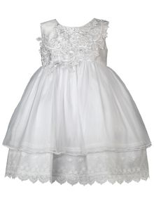 Heritage Amelia Optic White Sleeveless Dress