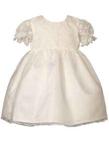Heritage Lacy Antique White Short Sleeve Dress