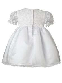 Heritage Lacy White Short Sleeve Dress