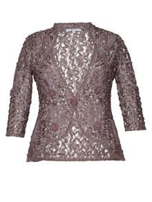 Lace cornelli embroidered trim jacket