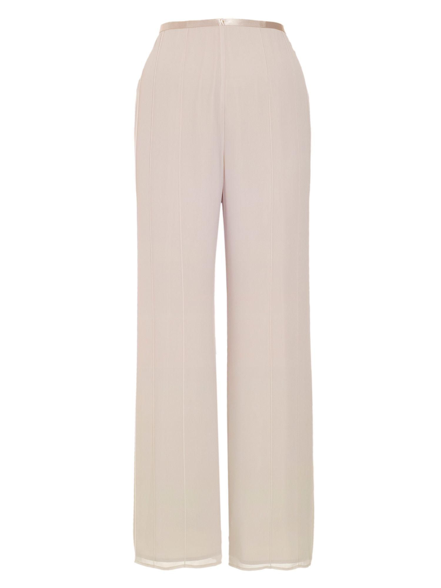 Pintuck detail chiffon trousers