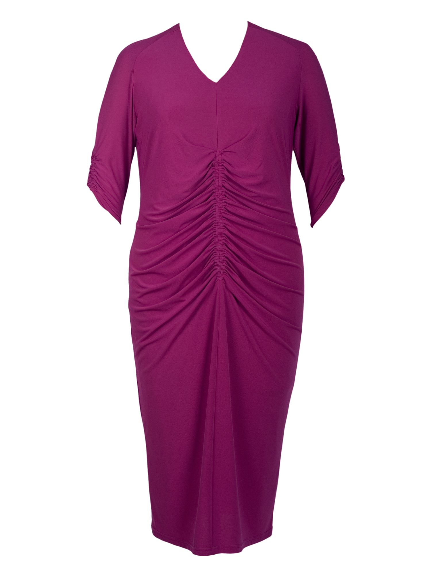 Ruched front jersey dress
