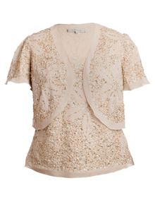 Georgette sequinned bolero and camisole