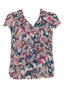 Butterfly print blouse (with modesty camisole)