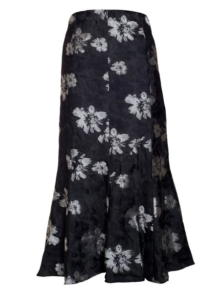 Chesca Plus Size Floral jacquard skirt