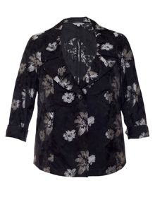 Chesca Floral jacquard jacket