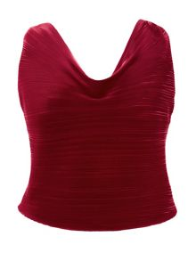 Chesca Plus Size Pleated camisole