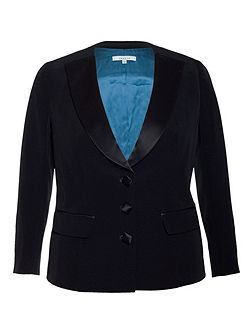 Chesca Satin Back Rever Jacket With Contrast Lining