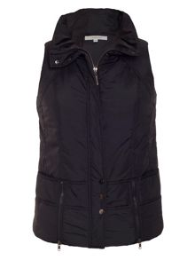 Chesca Zip detail padded gilet