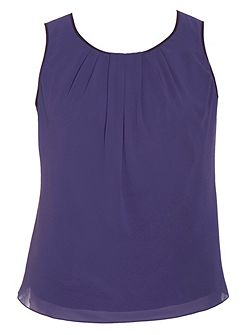 Plus Size Satin Trimmed Camisole