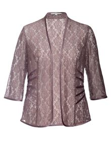 Chesca Lace Jacket with Ribbon Trim Detail