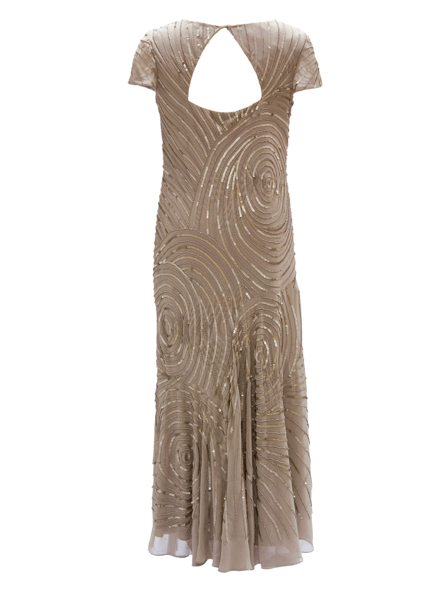 Swirl beaded dress