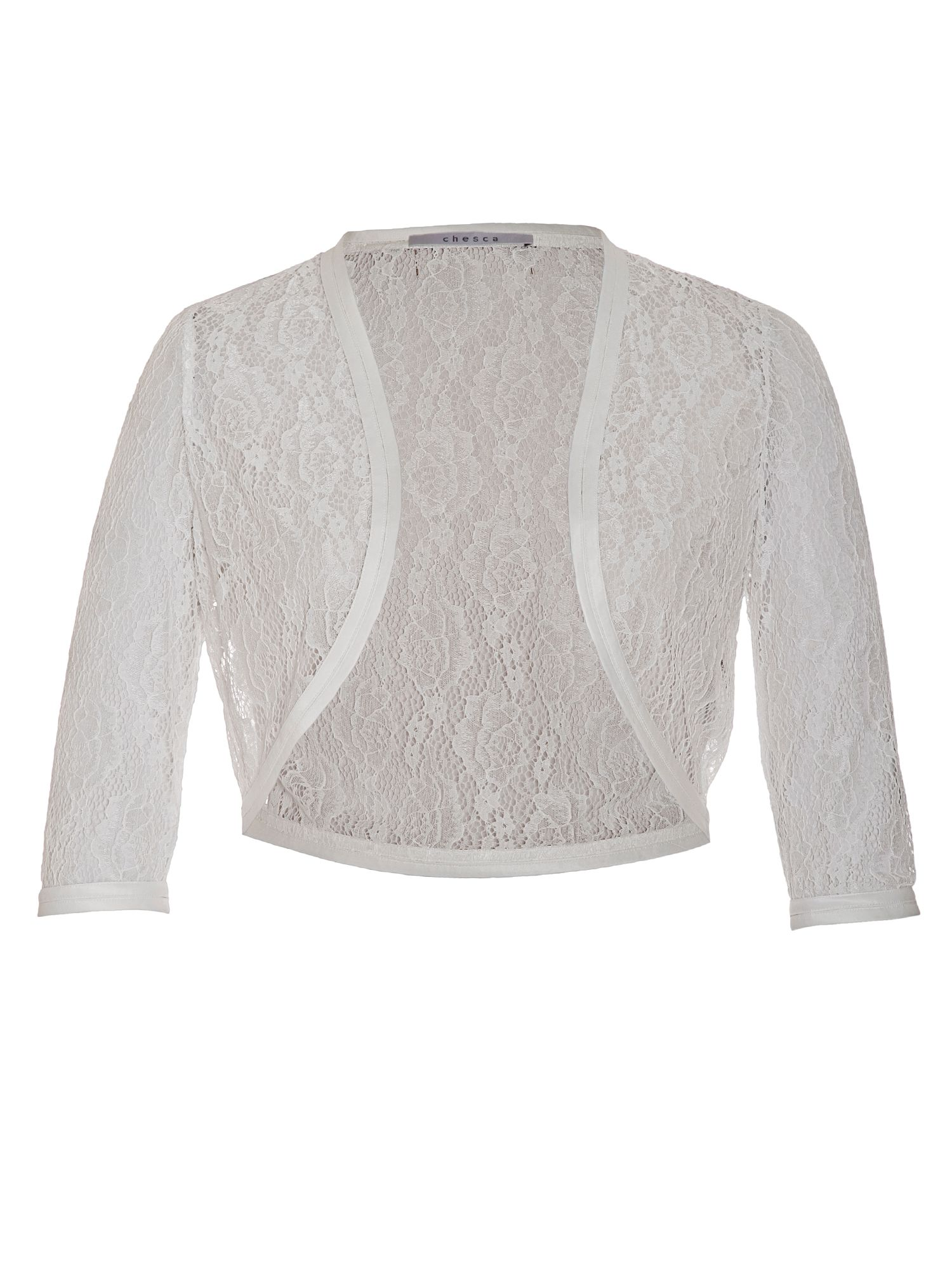 Chesca Lace Bridal Bolero, White