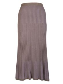 Two-tone knited skirt