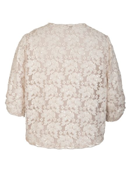 Chesca Ivory Beaded Lace Bolero