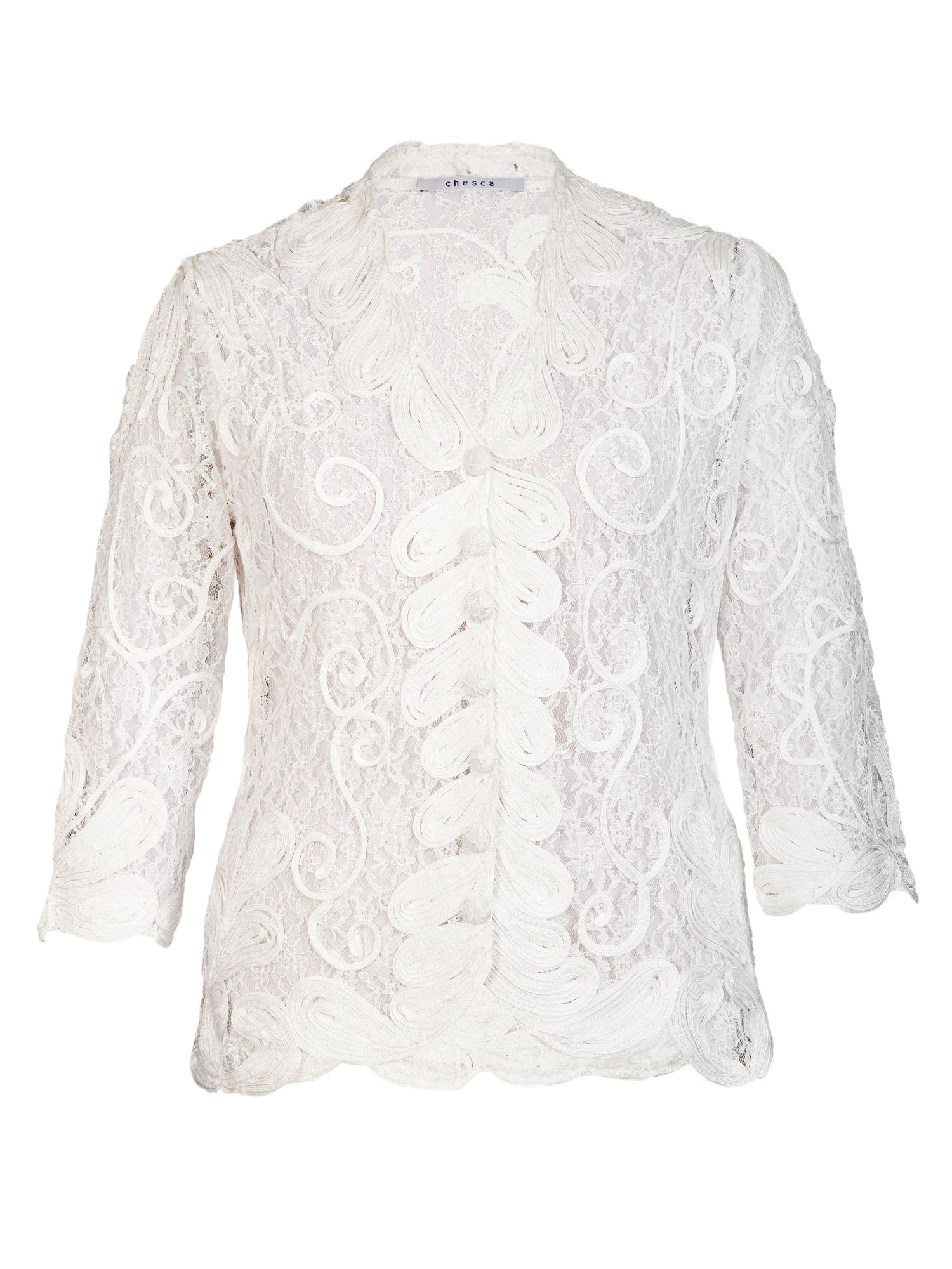 Cornelli trimmed lace jacket