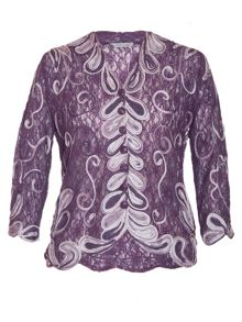Ombre cornelli trimmed lace jacket