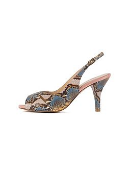Yellow Blue Snake Print Shoes