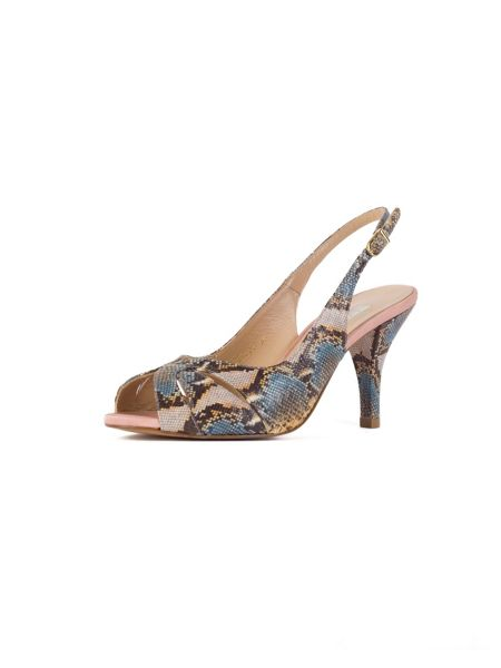 Chesca Yellow Blue Snake Print Shoes