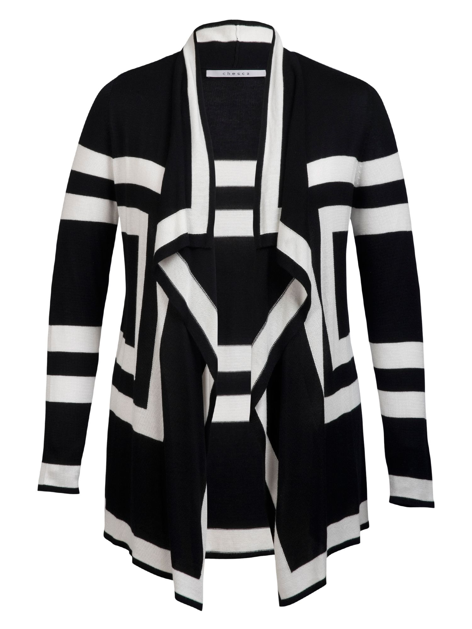 Block stripe cardigan