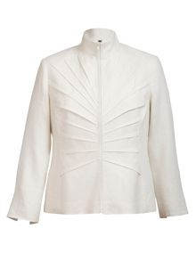 Chesca Tuck detail linen jacket