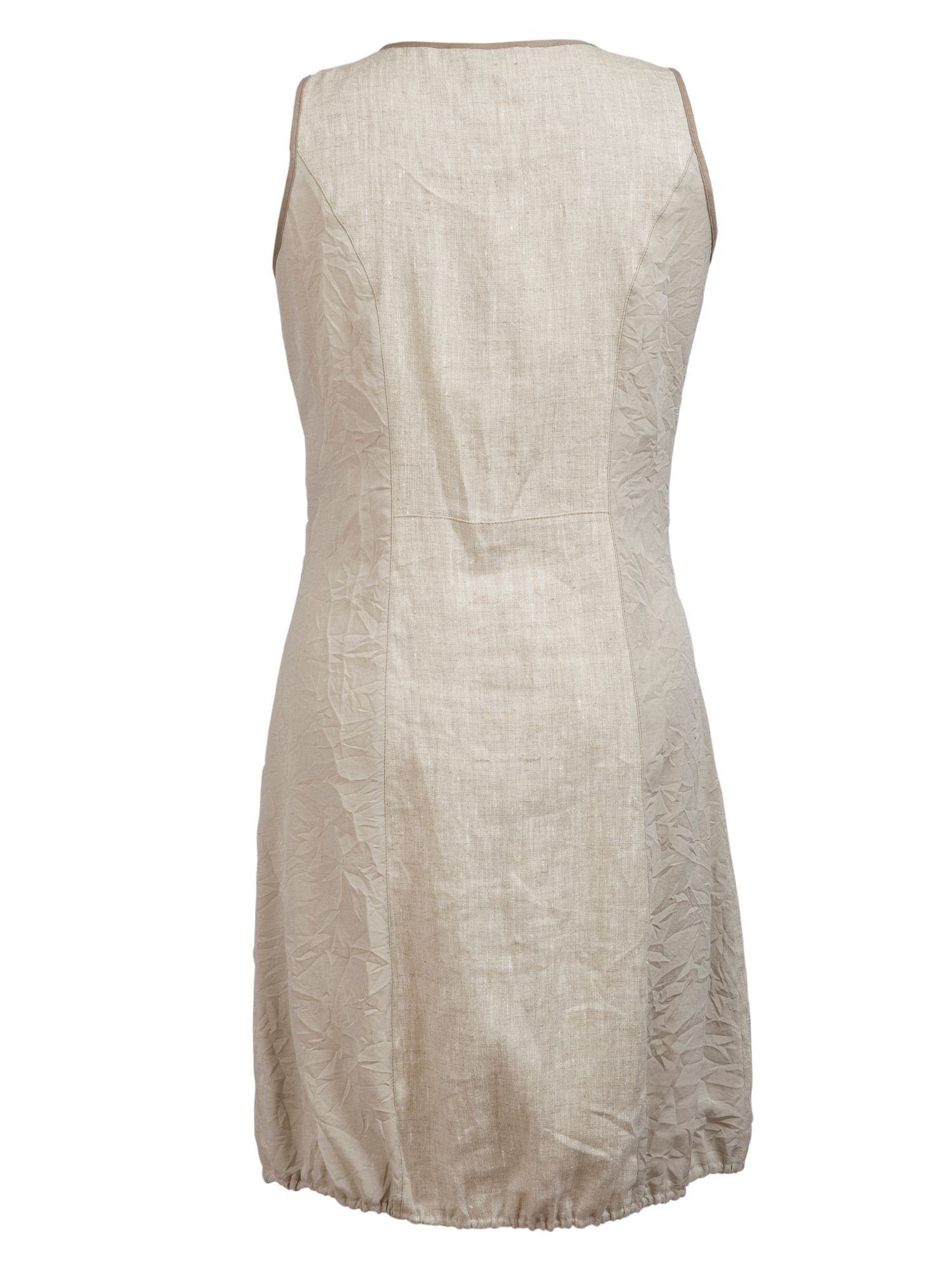Zip detail linen dress