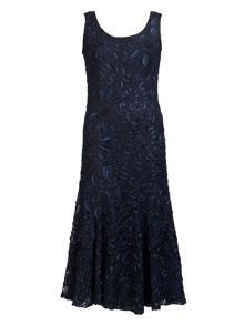 Chesca Plus Size Navy Lace Cornelli Dress