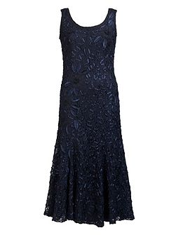 Plus Size Navy Lace Cornelli Dress
