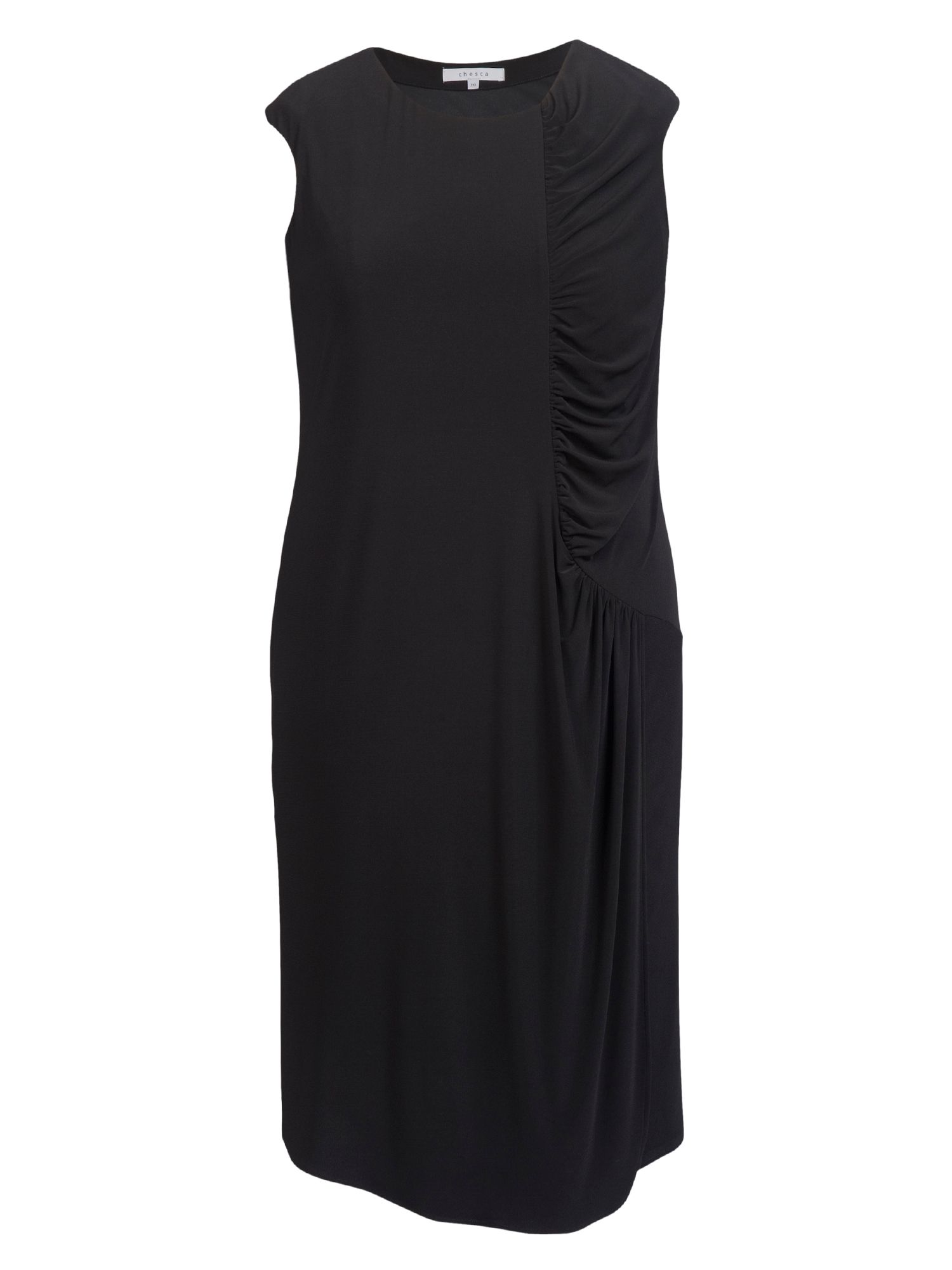 Ruched detail jersey dress