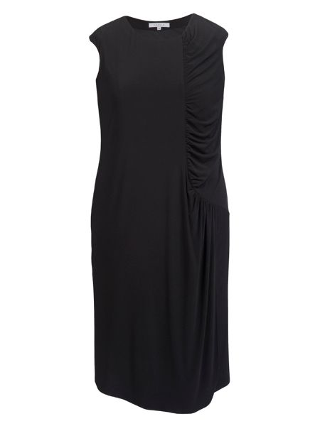 Chesca Plus Size Ruched detail jersey dress