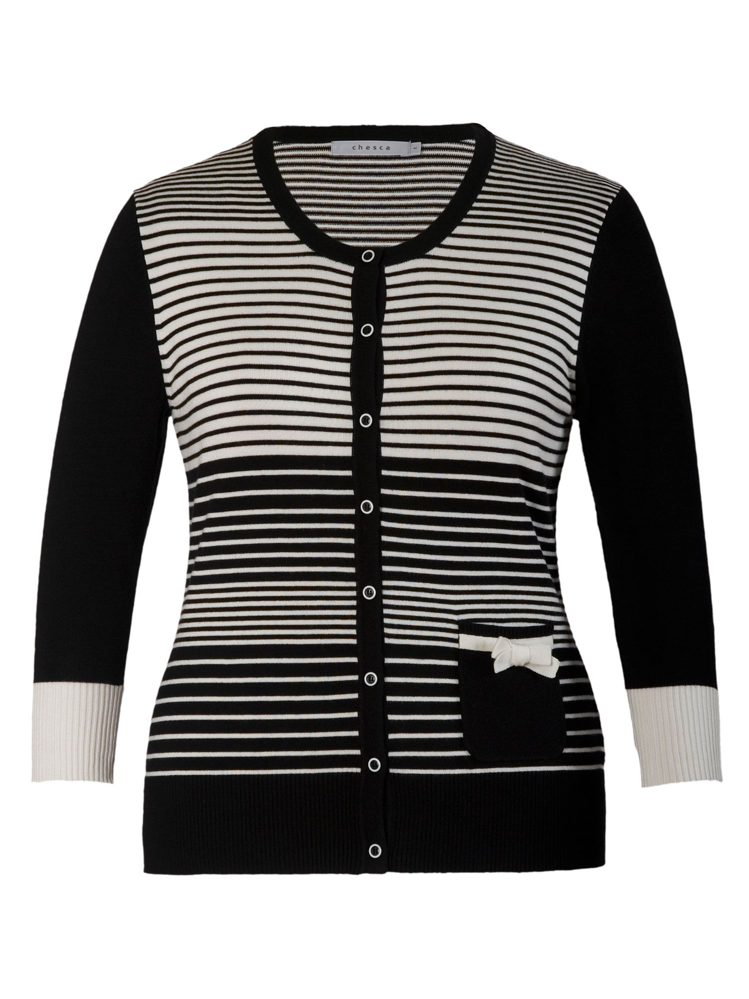 Graduated striped cardigan