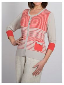 Graduated Stripe Cardigan