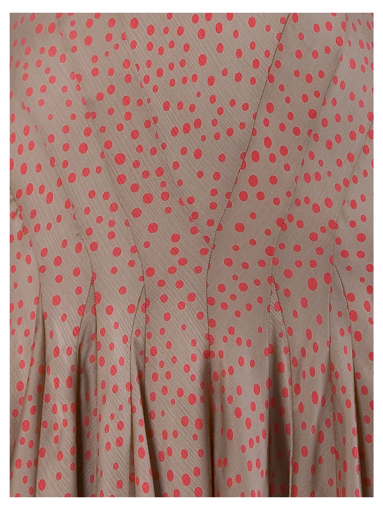 Spot Print Multi Panel Flared Skirt