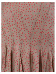 Chesca Spot Print Multi Panel Flared Skirt