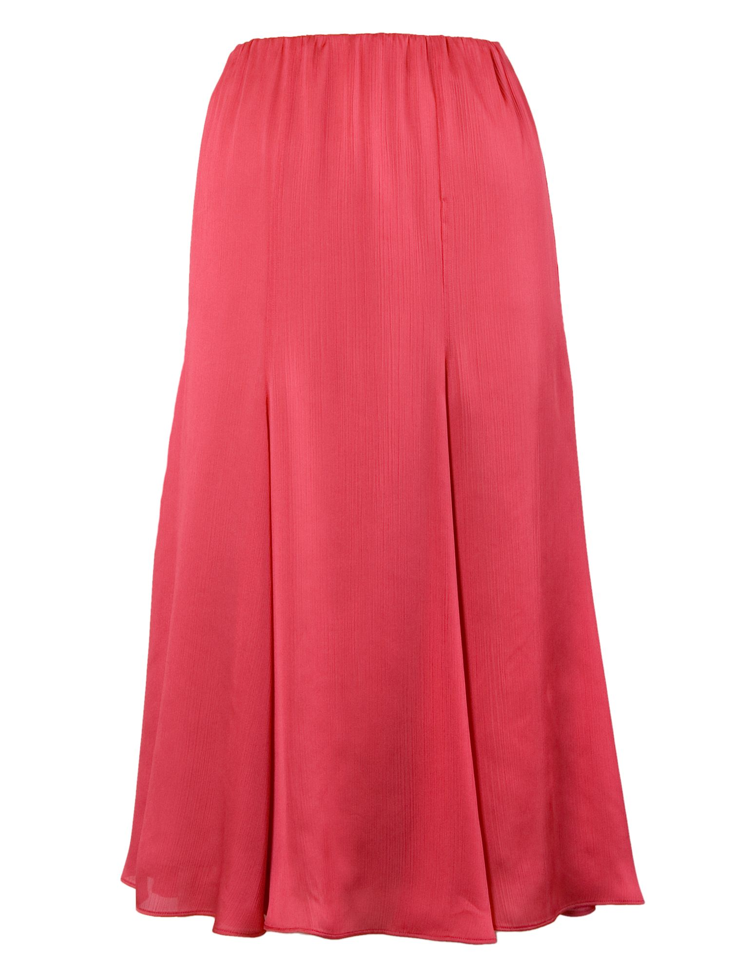 Chesca Multi Panel Flared Skirt, Coral