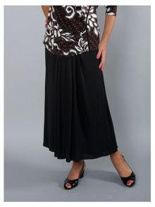 Chesca Piping trim jersey skirt with tuck detailing