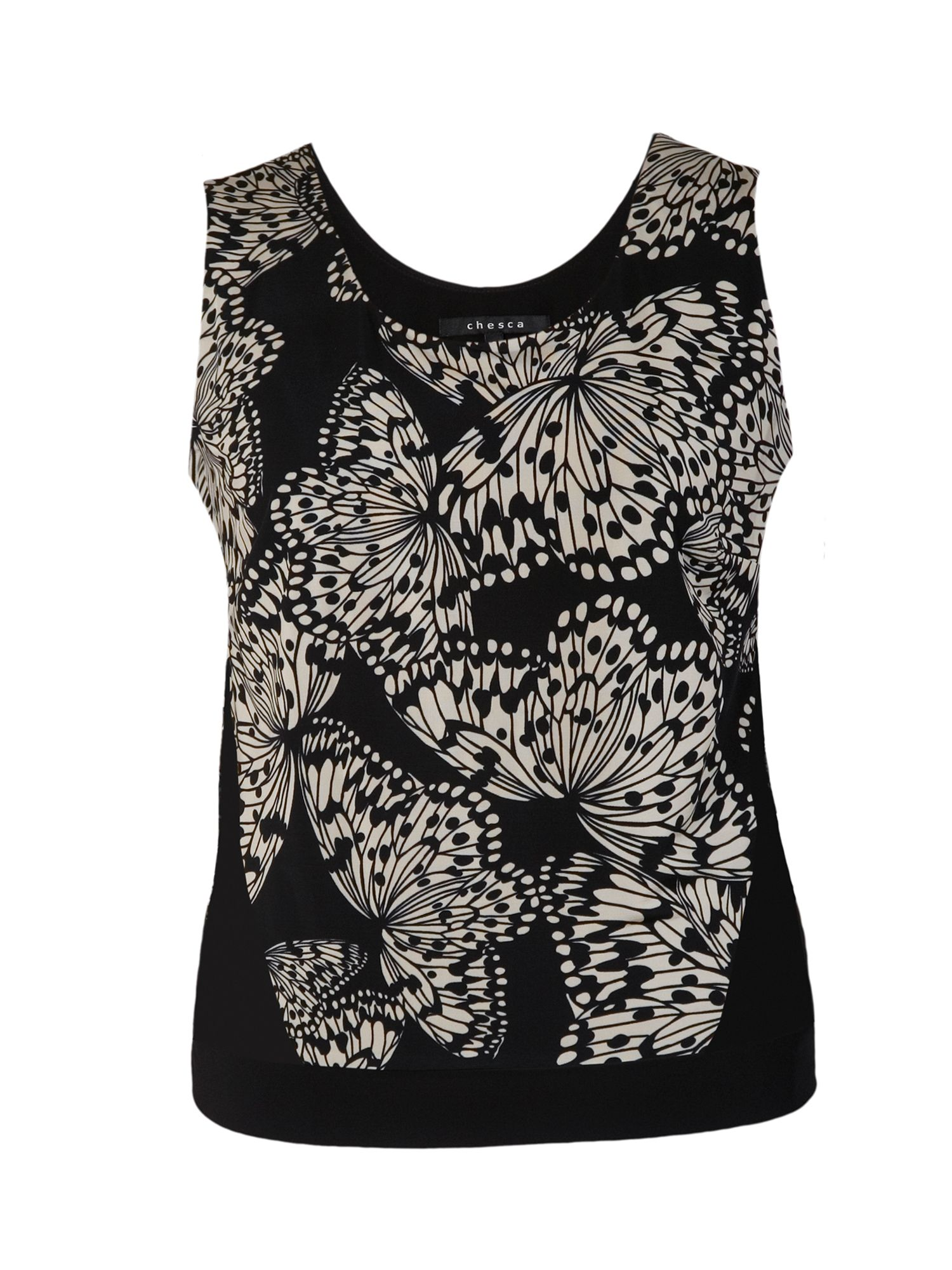 Butterfly print jersey camisole